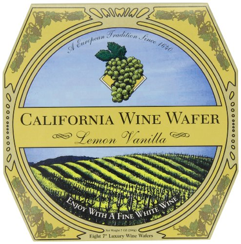 California Wine Wafer, Lemon Vanilla, 7-Ounces Boxes (Pack of (Vanilla Wine)