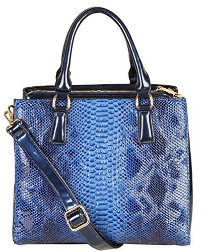rimen-co-shiny-patent-pu-leather-crocodile-texture-large-tote-womens-purse-handbag-sw-2821-blue