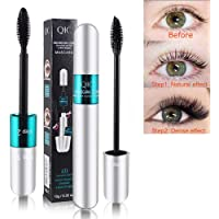 4D Silk Fiber Lash Mascara Lengthening Mascara Volume And Thickening Mascara Smudge Proof, Long Lasting Curve Eyelashes Lengthening Mascara Black
