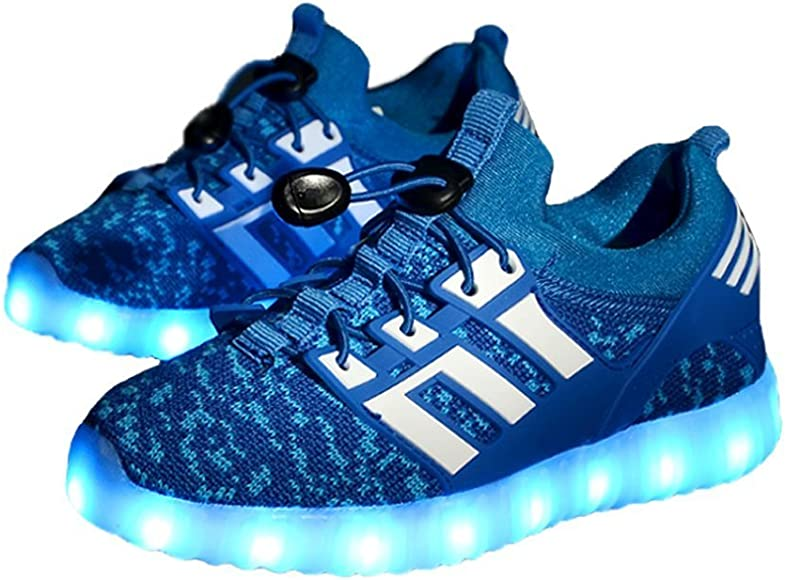 24XOmx55S99 11 Colors Breathable LED Light Up Shoes Flashing Sneakers for Kids Boys Girls