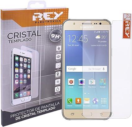 REY Protector de Pantalla para Samsung Galaxy J5 Cristal Vidrio ...