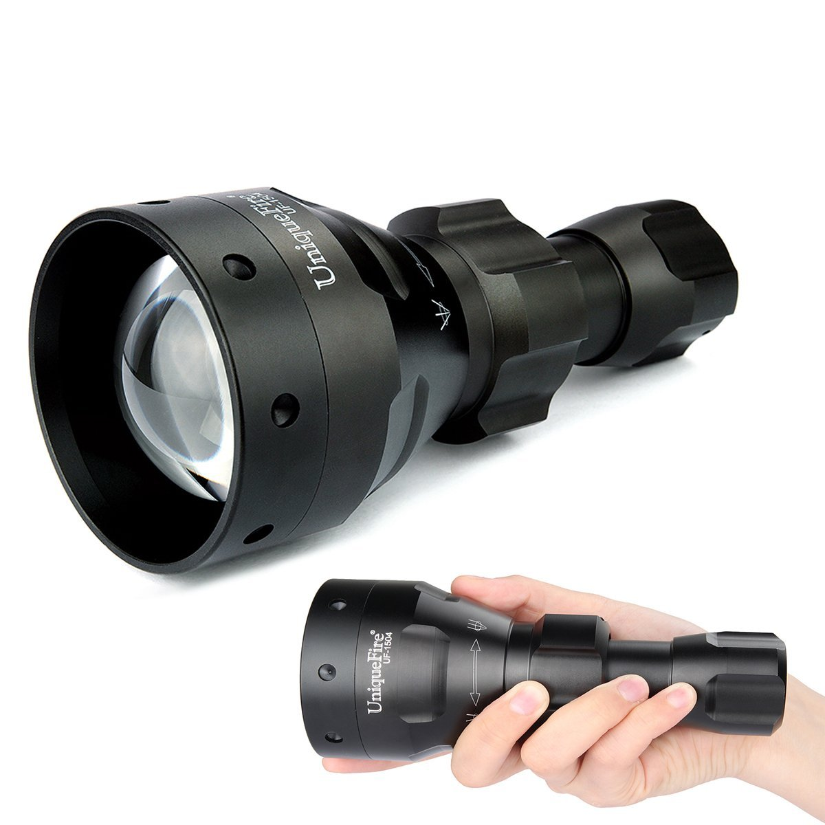 Torch Lens 67mm Flashlight Led Infrared nm 940 UF-1504 Black