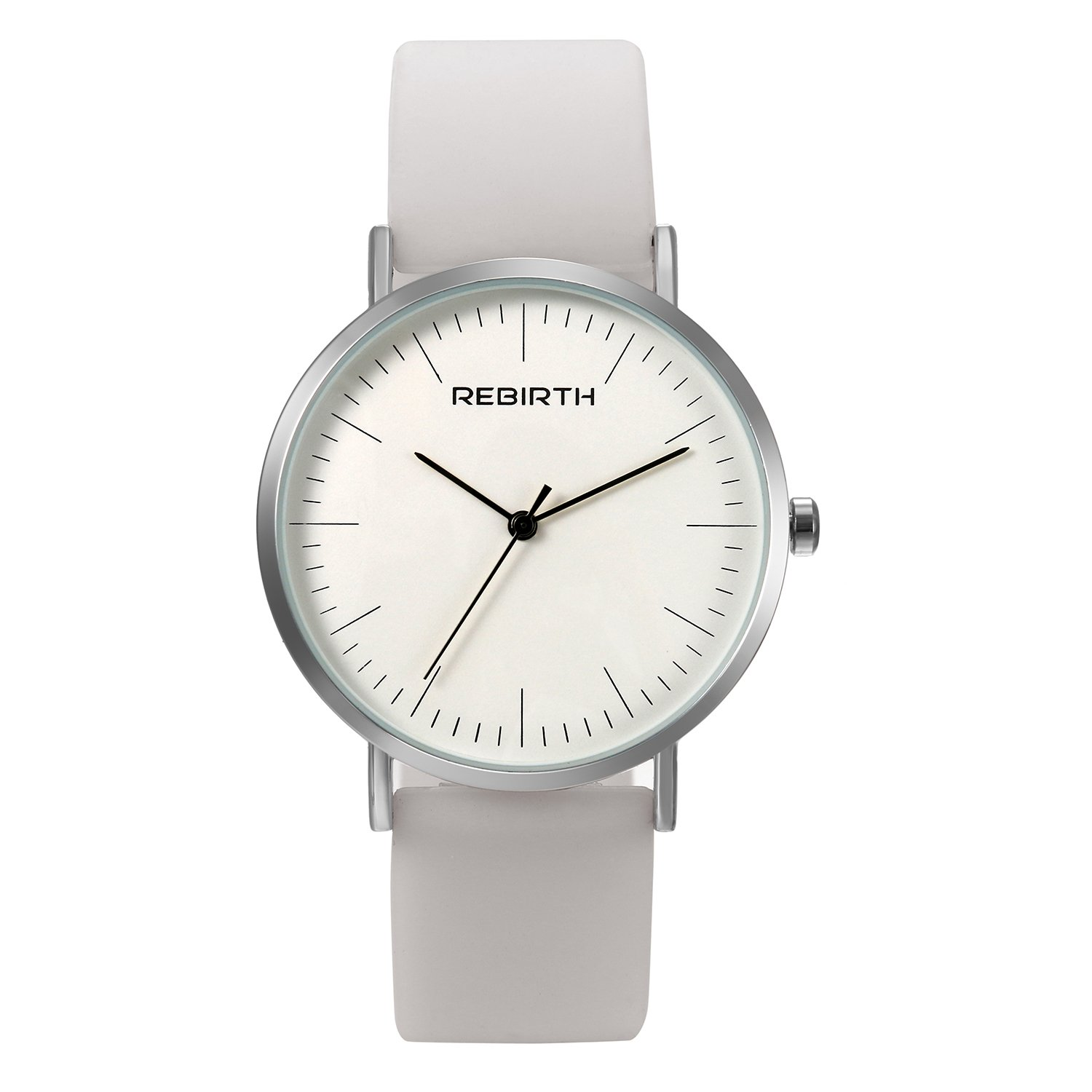 Ladies and Girls Jelly White Scrub Silicone Band Round Face Quartz Youth Wrist Watch Gift for Women