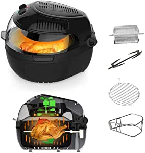 10 Liter Air Fryer with Control Panel – Premium Quality –Turbo Air Technology- Less Oil Frying - For A Boil, Grill and Roast