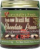TWO 18 oz. Xylitol-Sweet Organic Raw Chocolate Brazil-Nut Dream Pure Fresh Nutritional Dairy-Free Antioxidants StoneGround white-sugar-free fudge candy-in-glass-jar Rejuvenative Foods (2-18 oz)