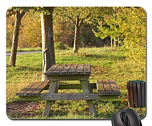 (Mouse Pad - Bank Resting Place Forest Seat Rest Nature)