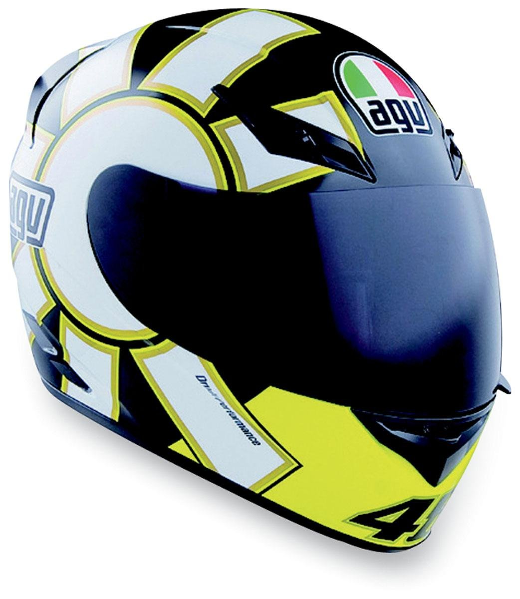 Agv K3 Adult Helmet Gothic Black X Small Automotive Visor Helm