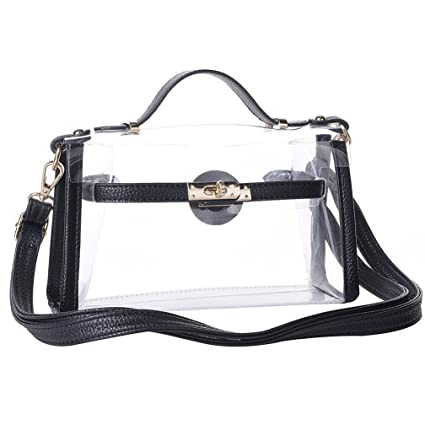 268081edc981 Yocatech Transparent Crossbody Bags Messenger Bags For Women NFL Stadium  Approved (Black)