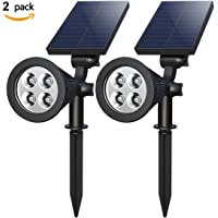2-Pack Holan 4-LED Solar Landscape Lights (Black)