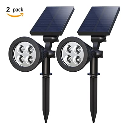amazon com solar spotlights holan 4 led solar landscape lights