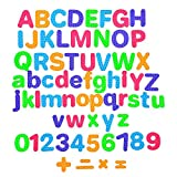 Star Right Magnetic Letters and Numbers - 104 Educational Alphabet Refrigerator Magnets for Vocabulary, Sentence Building and Math Skills Includes Uppercase, Lowercase and Math Symbols