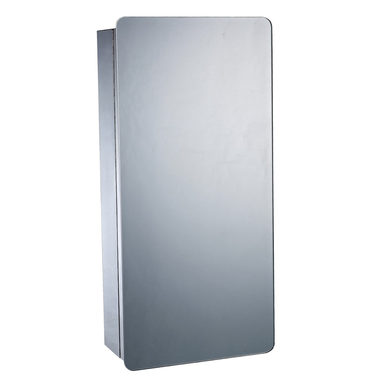 HOMCOM Wall Mounted Modern Bathroom Cabinet Mirror Stainless Steel Cupboard 6 Compartments Storage Shelves 63Hx30Lx15D(cm) Sold by MHSTAR