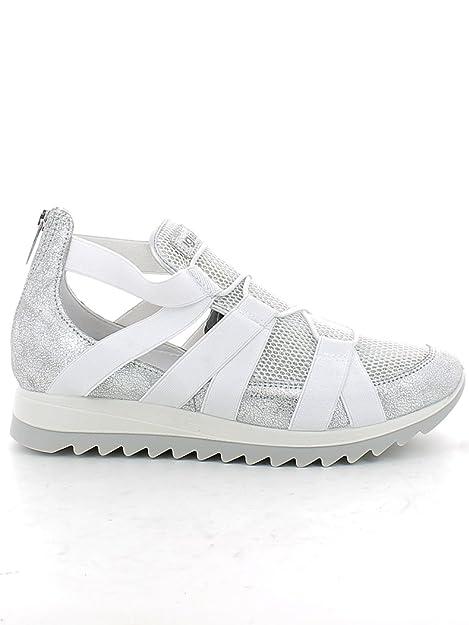IGI&CO 7770 Argento Scarpa Donna Sneaker con Elastico Pelle