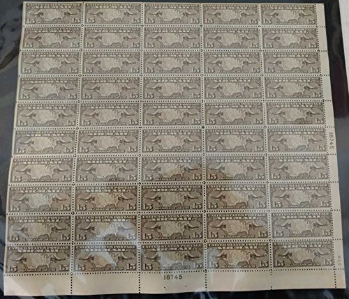 US Stamp1926 15c Map & Mail Planes 50 Stamp Sheet #C8 (Mnh Map)