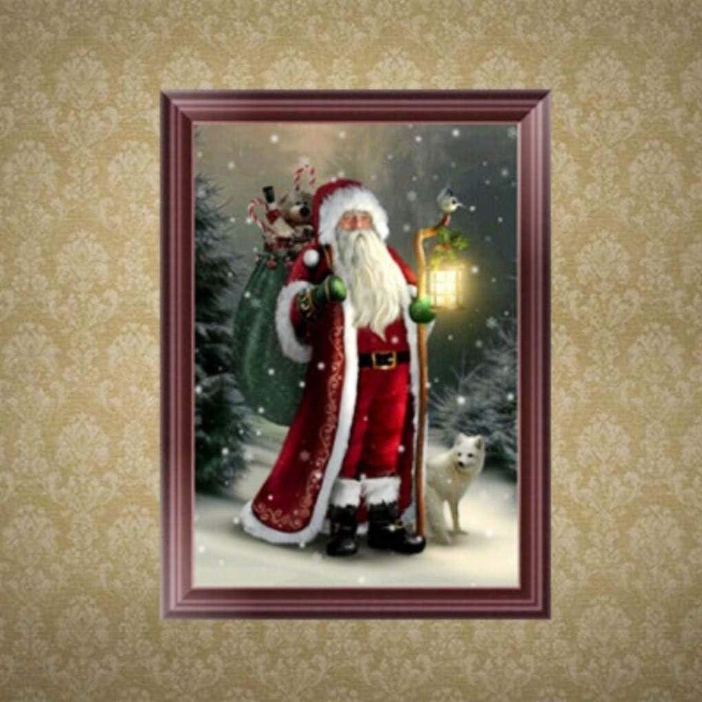 DIY Santa Claus Rhinestone Painting Resin Crystal Embroidery Diamond Picture Home Christmas Decorative Cross Stitch