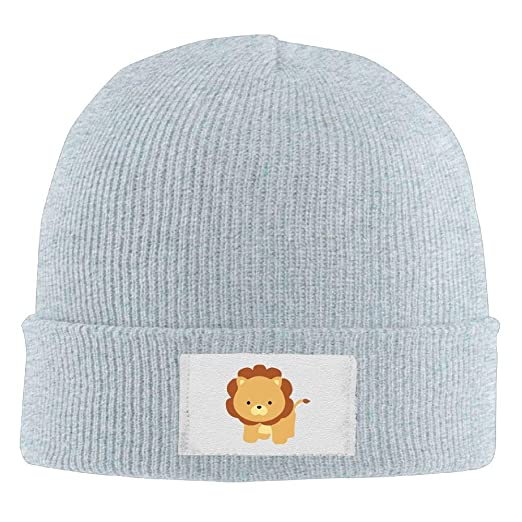 1243ca48bb5 Demin09 Mens Womens Knit Beanie Hats Cartoon Lion Warm Winter Skull Caps at  Amazon Men s Clothing store