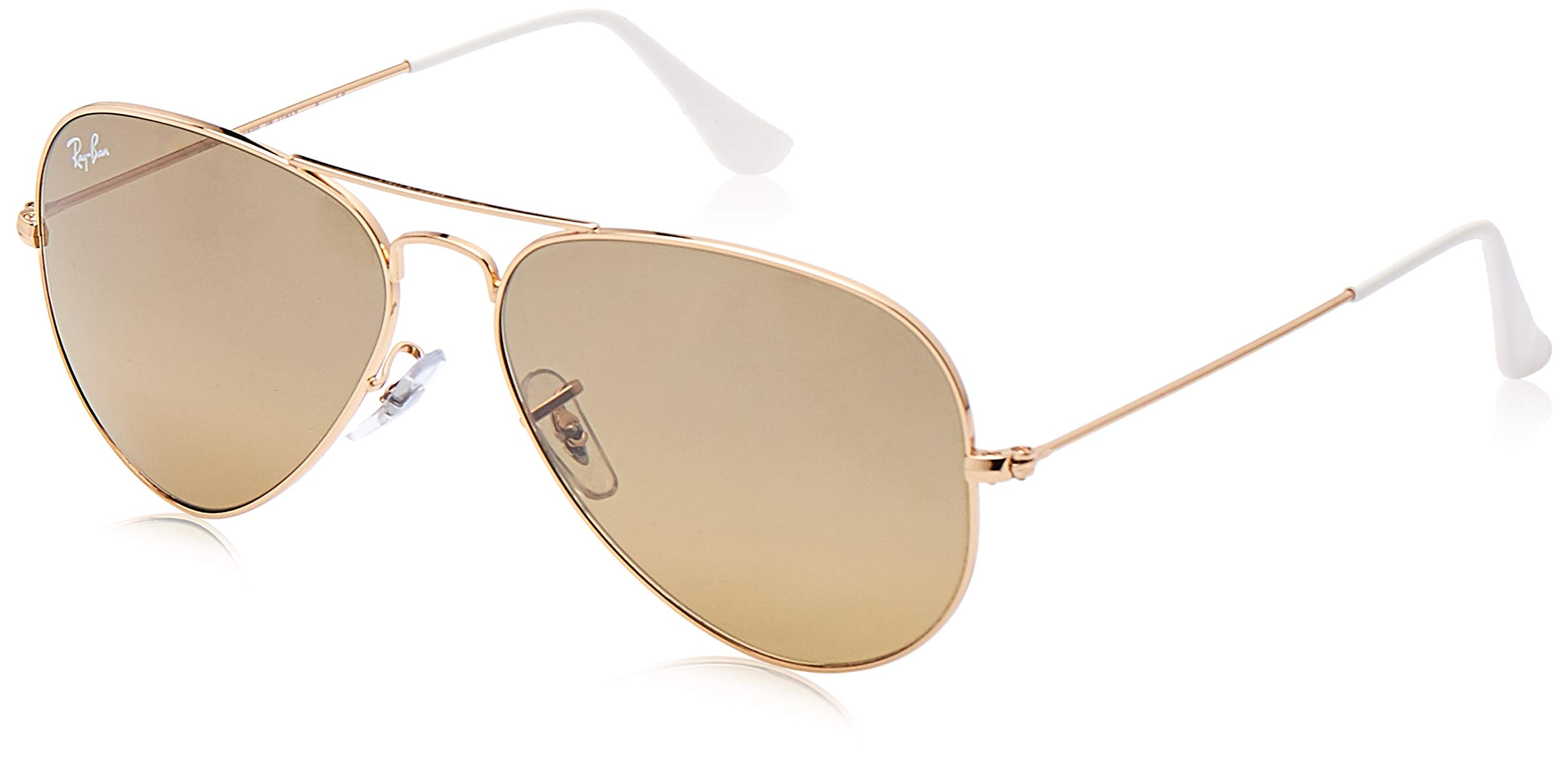 RAY-BAN RB3025 Aviator Large Metal Sunglasses, Gold/Brown Mirror Gradient, 58 mm by RAY-BAN