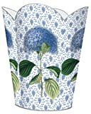 WB396-Blue Hydrangea on Provencial Print Wastepaper Basket