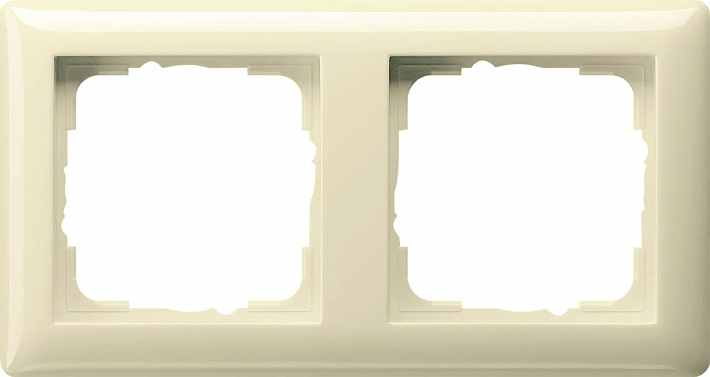 Gira S-Color Blanc Crème 2 Pièces Prises 1 pièce 2 positions cadre Dans Blanc Crème