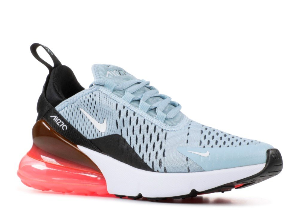 NIKE Women's WMNS Air Max 270, Ocean Bliss/White-Black-Hot Punch, 8.5 M US