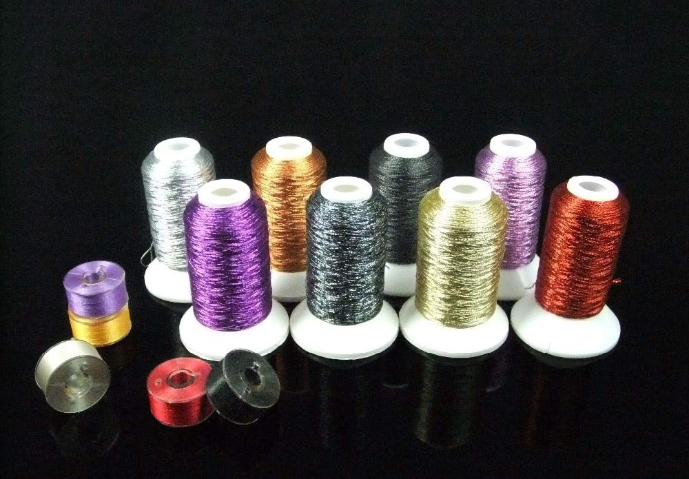 Singer Tension - Metallic Embroidery Thread Halloween Colors for Brother/babylock/janome/Singer/pfaff/husqvaran/bernina by Ganos by Ganos