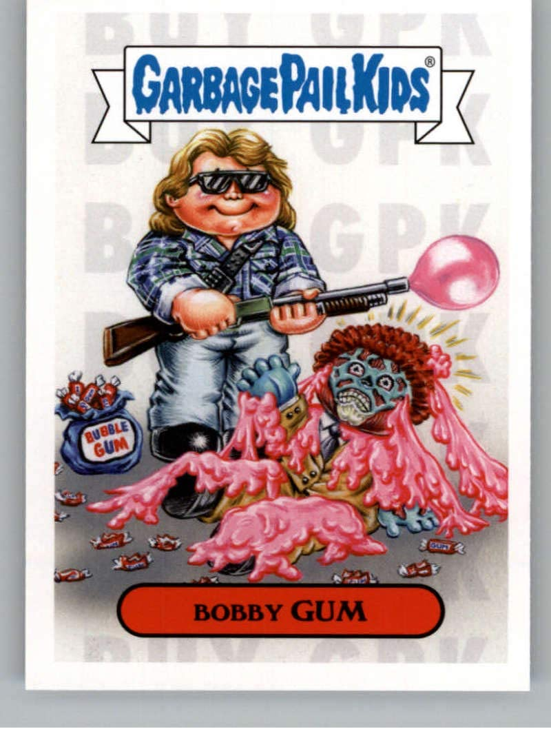 2019 Topps Garbage Pail Kids Revenge of Oh, The Horror-ible 1980's Horror Stickers NonSport #14A BOBBY GUM Series Two Collectible Trading Card