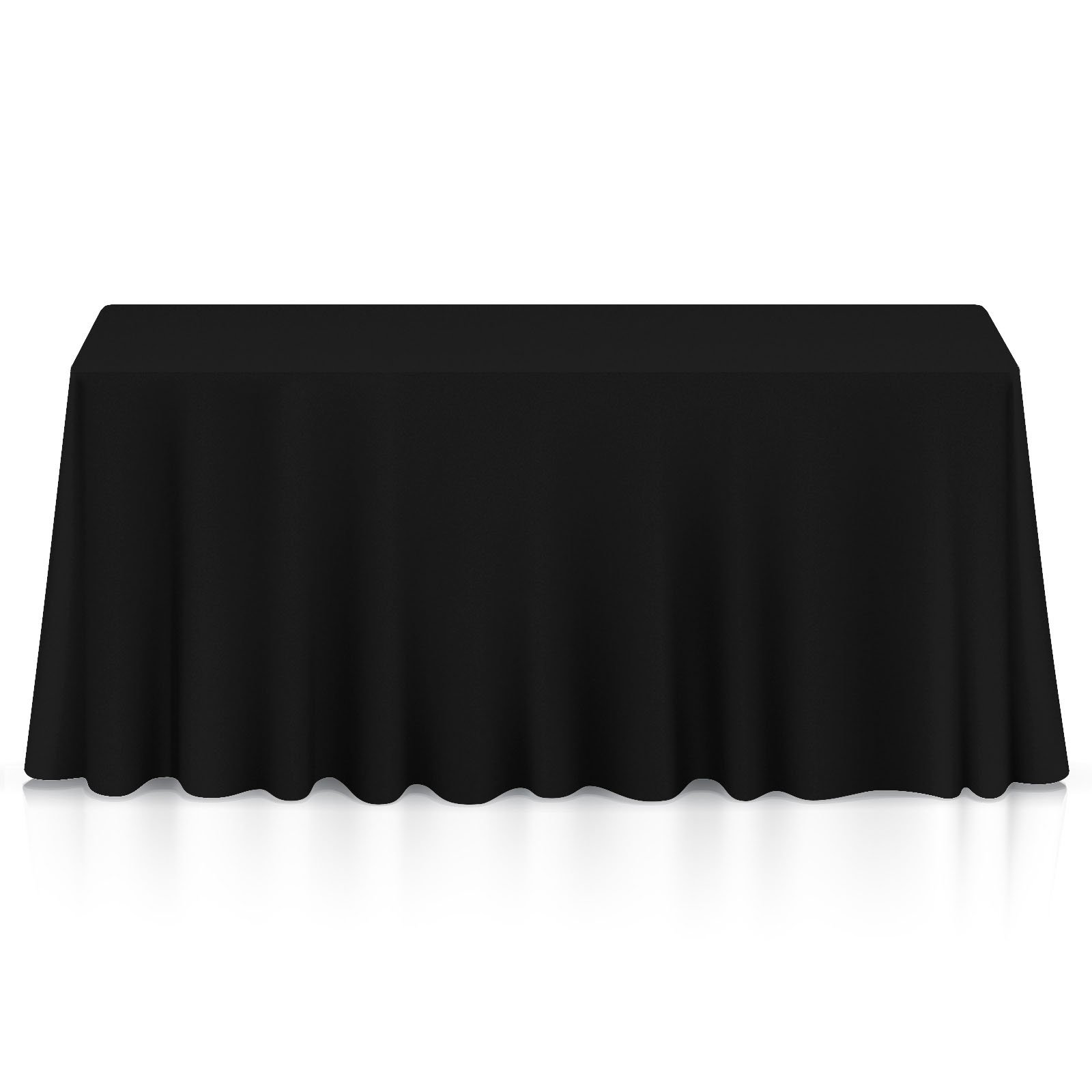 Lann's Linens - 10 Premium 60'' x 102'' Tablecloths for Wedding/Banquet / Restaurant - Rectangular Polyester Fabric Table Cloths - Black