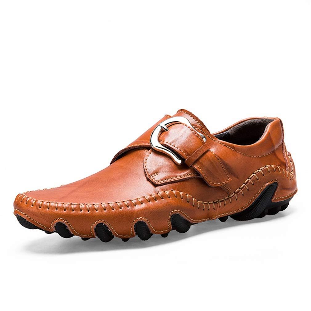 2018 Zapatos de Hombre Cuero Primavera/Verano / Otoño Comfort Mocasines y Slip-Ons Zapatos para Caminar Negro, Rojo, Amarillo Un