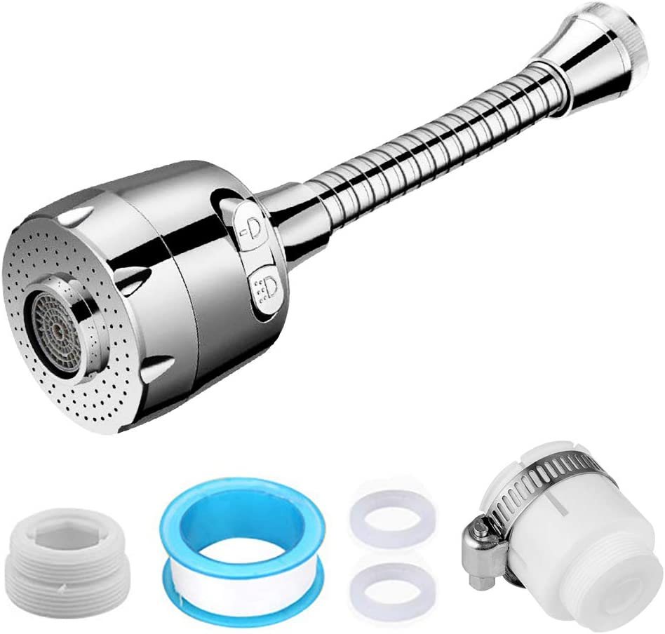 Afloia - Grifo universal con cabezal pulverizador, regulador de chorro, ahorro de agua, dispositivo de ahorro de agua, boquilla de grifo, ampliación de grifo, filtro de cocina, ducha