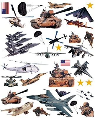 Brewster ST96411 Military Wall Decals