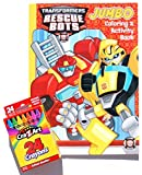 Transformers Rescue Bots Jumbo Coloring and Activity Book with Cra-Z-Art Crayons