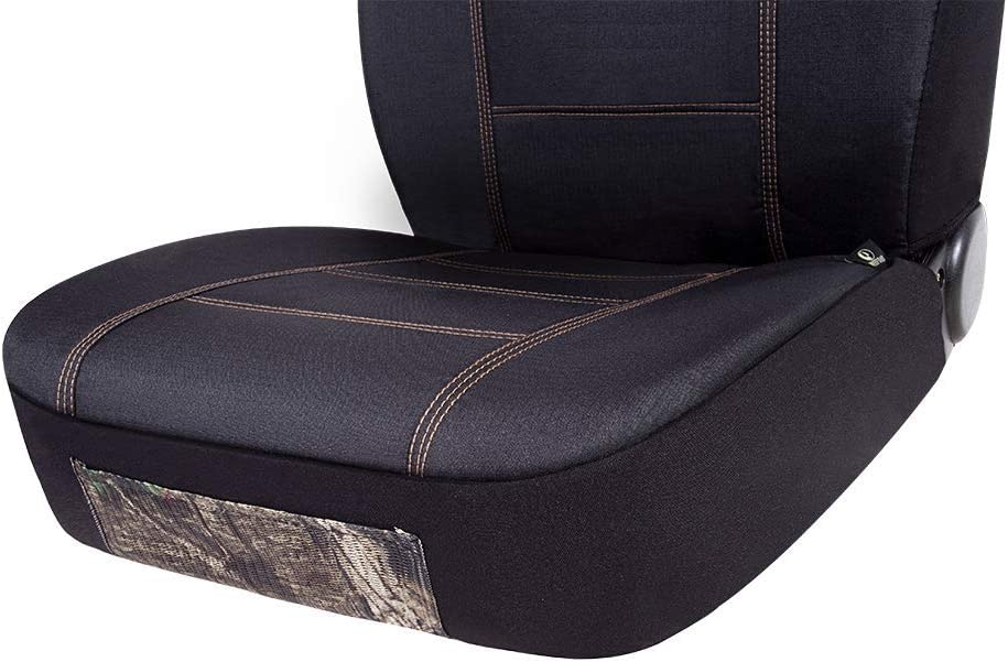 Mossy Oak Low Back Camo Full Size Bench Seat Covers Universial Fit Fit Most Rear Seats Official Licensed Product Made with Premium Rip-Stop Oxford Fabric