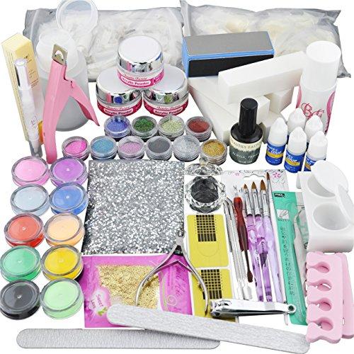 Beauties Factory Best-Seller Acrylic Nail Art Set Full Powder Tips Tool