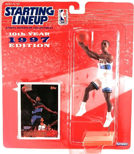 - Starting Lineup TERRELL BRANDON / CLEVELAND CAVALIERS 1997 NBA Kenner Exclusive TOPPS Collector Trading Card