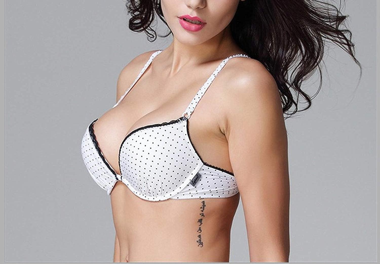 Li hong1 Girls Puberty Push Up Bra Polka Dot Padded Women Small Size Everyday Bras,A,34 Brown