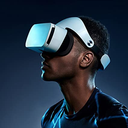 Amazon com: with Eye Protection VR Headset 3D Glasses, 360 HD