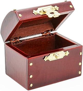 Amazon.es: Odoria 1/12 Miniatura Caja Madera Marrón Decorativo ...