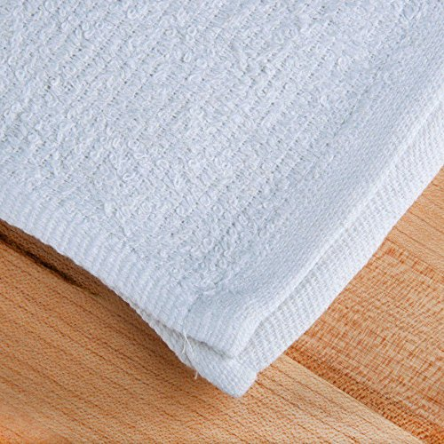 GT NEW UNUSED 60 PACK WHITE TERRY TOWELS BAR MOPS SIZE 14X17 WEIGHT 24oz DOZEN