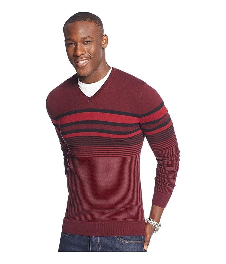 Alfani Mens Bold Pop Striped V Neck Pullover Sweater B0301RT528