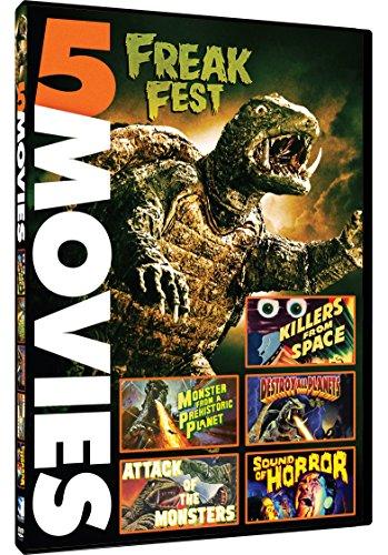 DVD : Freak Fest: Gamera vs Viras / Gamera vs Guiron (5 Movies) (DVD)