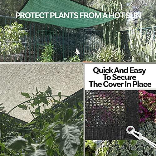 Geovne Pa/ño de Sombra para Exteriores,8 Pines,Malla Sombreadora Verde Resistente a UV,Malla de Sombreo Transpirable,Red de Sombreado Antracita,para Piscina,Invernadero,Techo 2x2m