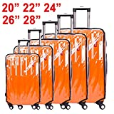 """CSTOM Clear Travel Luggage Protector Suitcase Covers 24"""" (41cm L x 28cm W x 61cm H)"""
