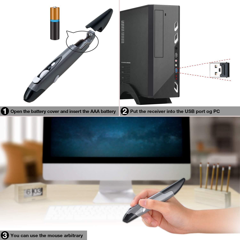 Amazon.com: Songway - Ratón inalámbrico para bolígrafo, 2,4 ...