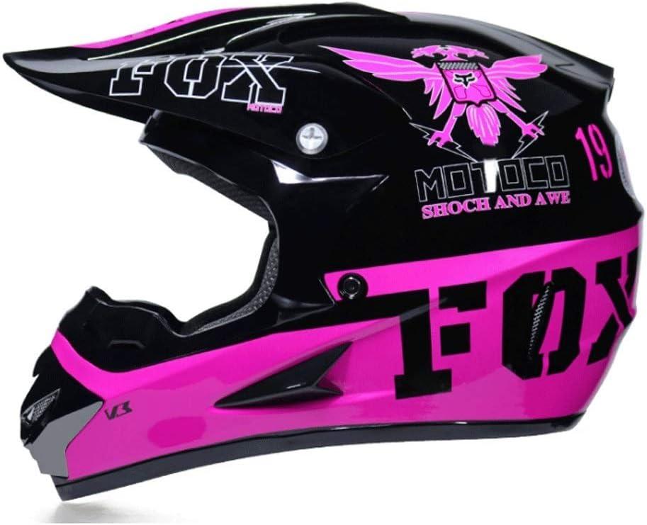 オフロードバイクヘルメット山岳自転車用ヘルメット屋外用乗馬用ヘルメットプロ用レーシング防護具 保護 (Color : 紫の, Size : L)