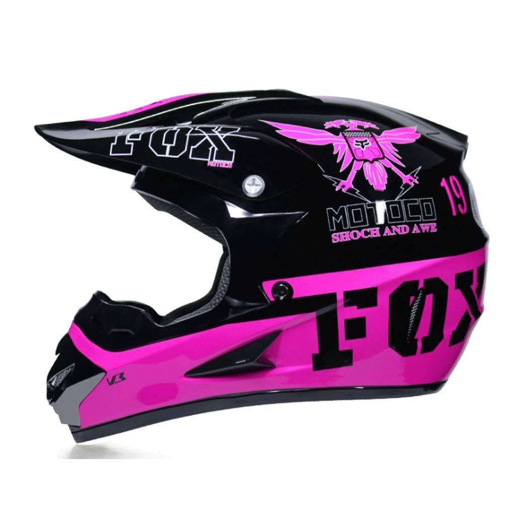オフロードバイクヘルメット山岳自転車用ヘルメット屋外用乗馬用ヘルメットプロ用レーシング防護具 保護 (Color : 紫の, Size : S)
