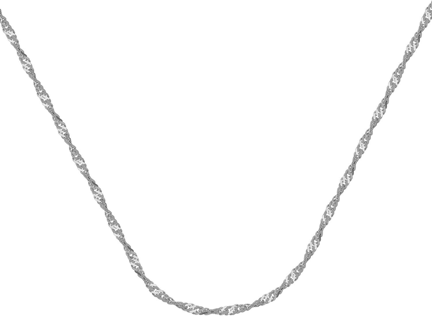 14KT GOLD SINGAPORE CHAIN WITH LOBSTER LOCK 18 INCHES LONG SINGAPORE CHAIN