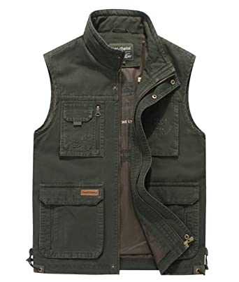 4d7da5a6e RUIYUNS Mens Cotton Casual Durable Outdoor Photography Vest Waistcoats Coat  Sleeveless Gilets