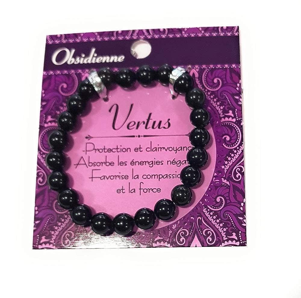 Obsidienne STC couleur noire Bracelet Bien-/être
