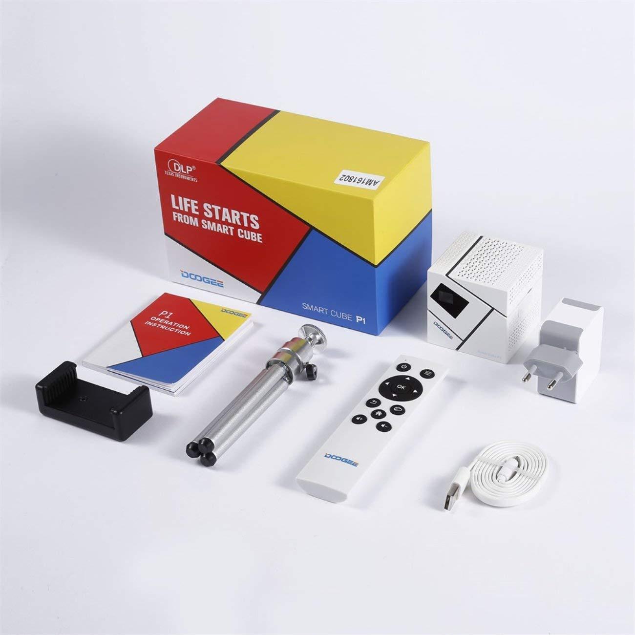 DOOGEE Smart Cube P1 FHD Mini LED 3D Inicio Juegos Proyector ...