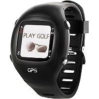 Dreamsport Montre Golf GPS télémètre GPS de Golf scoreur Noir avec Bande de Silicone-DGF201